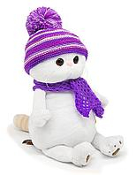 """Мягкая игрушка """"Кошечка Ли-Ли"""" в лиловом вязаном комплекте, 27 см."""