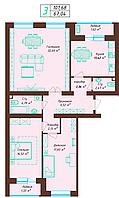 3 комнатная квартира 101.68 м²