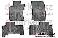 Коврики полики Toyota Land Cruiser Prado 150, черные, резиновые, 4 предмета, фото 1