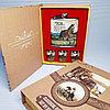 """Подарочный набор """"Книга охотника"""". """"Мустанг"""",  фляжка 210 мл + 3 стопки."""