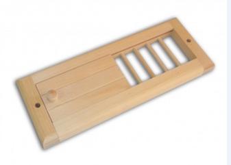 Вентиляционная задвижка из кедра – 130 – 240 мм
