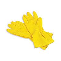 Перчатки латексные желтые, S