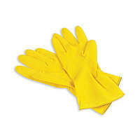 Перчатки латексные желтые, L