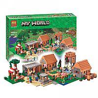 "Конструктор Bela 10531 ""Деревня"" Майнкрафт (аналог LEGO Minecraft 21128)"