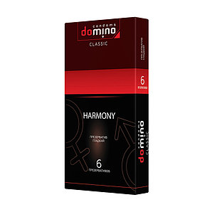 """Презервативы """"DOMINO HARMONY - Гладкие"""", 6 штук"""