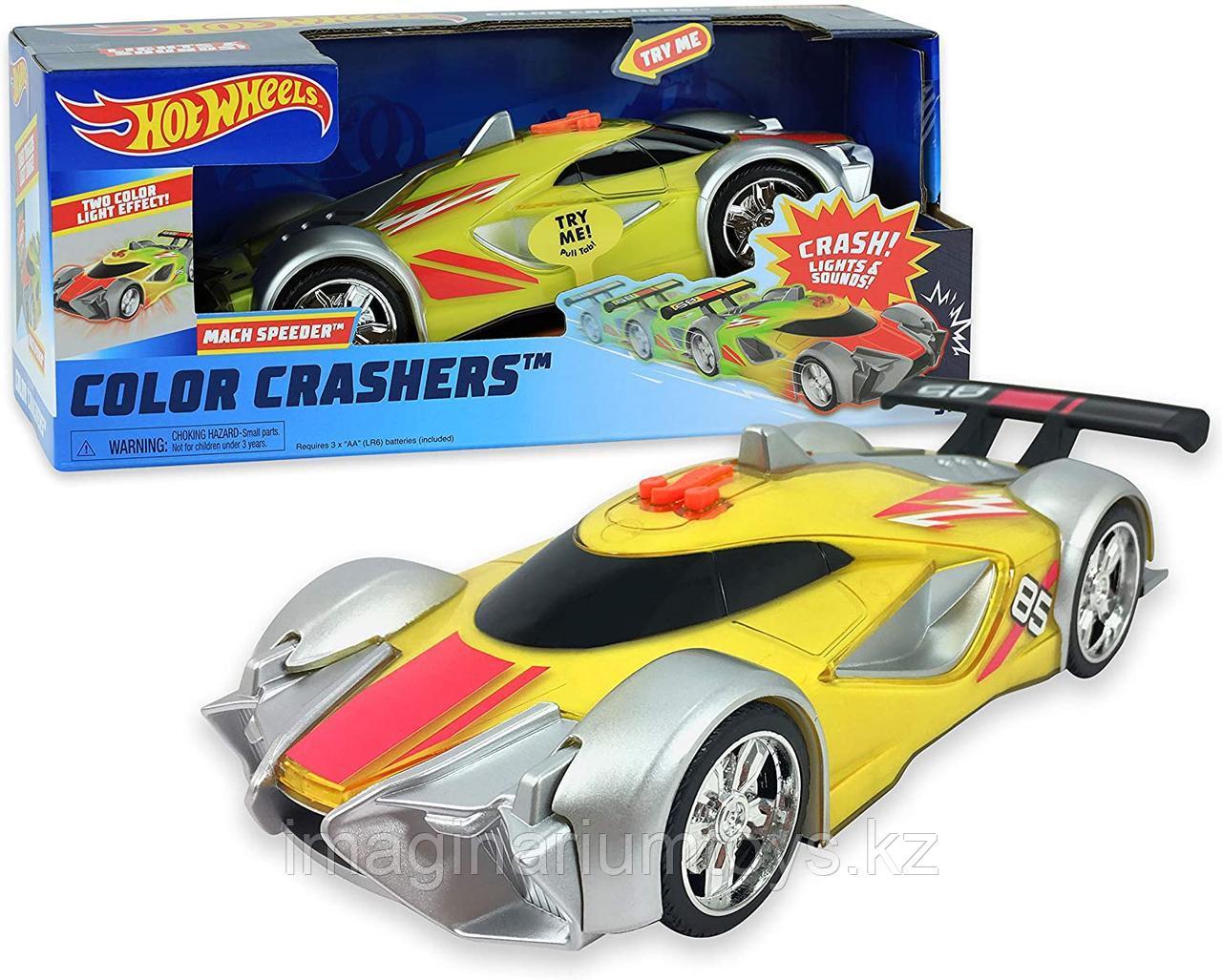 Машинка Hot Wheels меняющая свет Color Crashers Mach Speeder 22 см