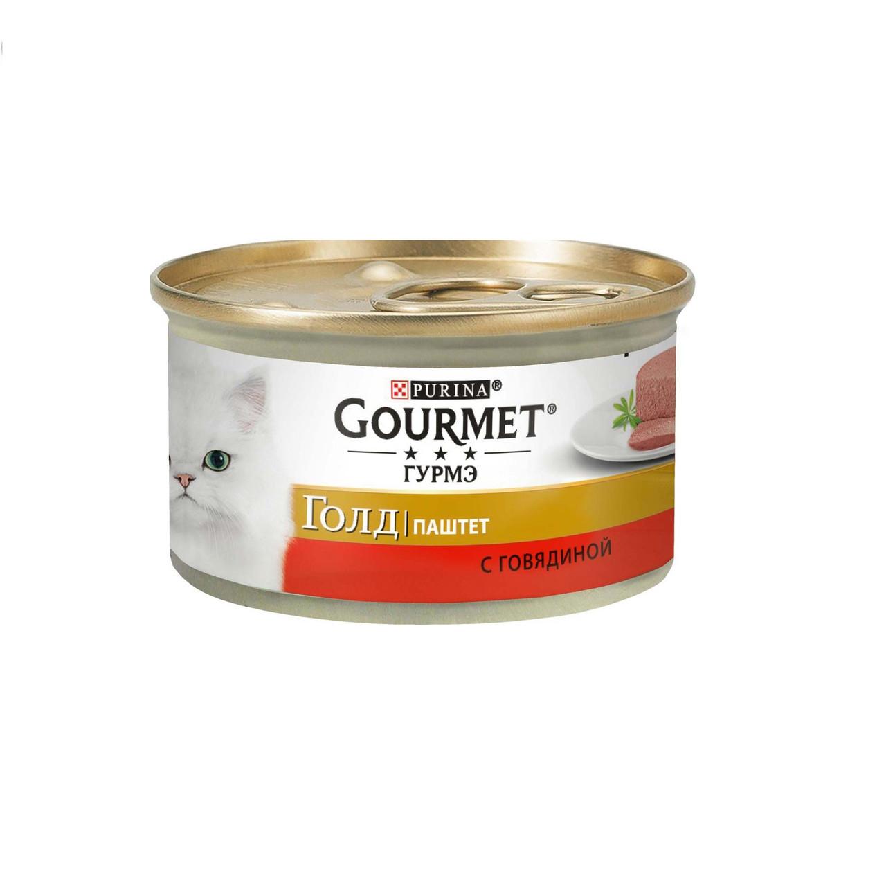 Gourmet Gold паштет с говядиной, банка 85 гр.