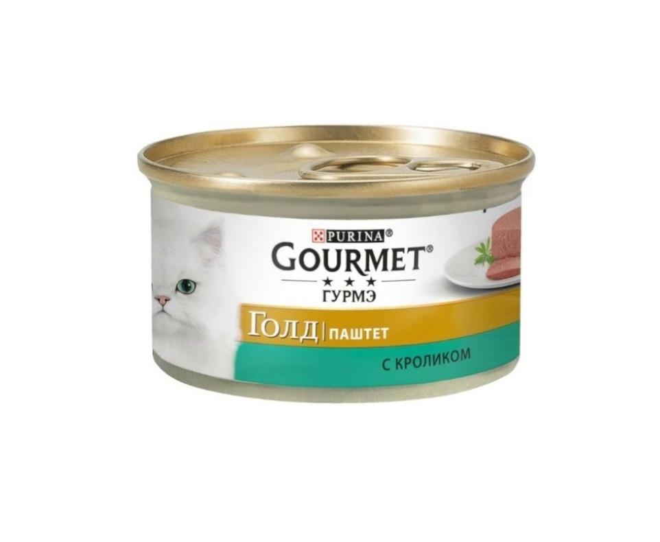 Gourmet Gold паштет с кроликом, банка 85 гр.