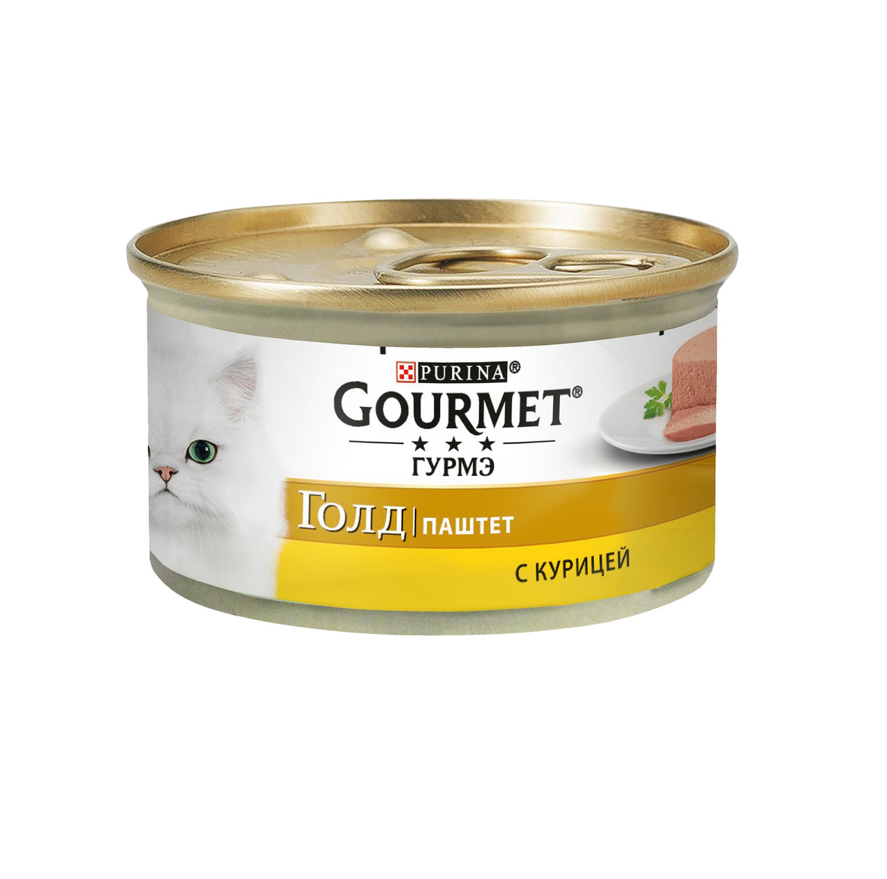 Gourmet Gold паштет с курицей, банка 85гр.
