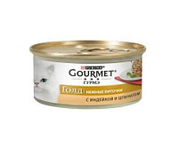 Gourmet Gold биточки с индейкой и шпинатом, банка 85гр.