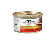 Gourmet Gold биточки с говядиной и томатом, банка 85гр.