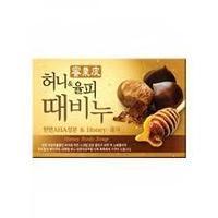 Мыло-скраб для лица и тела, мед и каштан с АНА- кислотами LUSOB 100 гр/KOREAN