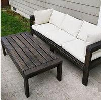 Скамейка и стол садовые деревянные G-008