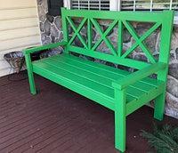 Скамейка деревянная с перекрестиями G-005