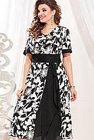 Женское осеннее хлопковое большого размера платье Vittoria Queen 13533 48р.
