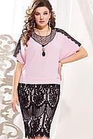 Женское осеннее кружевное нарядное большого размера платье Vittoria Queen 13423 50р.