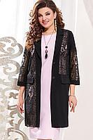 Женский осенний нарядный большого размера комплект с платьем Vittoria Queen 13433/1 50р.