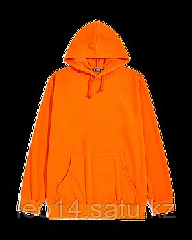 """Худи Х/Б, 40 (3XS) """"Unisex"""", Турция, двухнитка петля, цвет: оранжевый"""