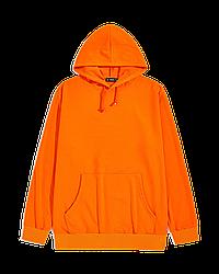 "Худи Х/Б, 48(M) ""Unisex"", Турция, двухнитка петля, цвет: оранжевый"
