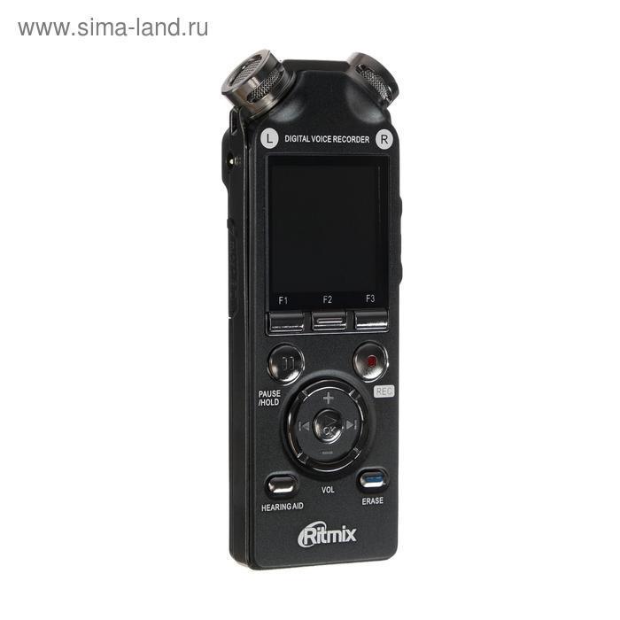 Диктофон Ritmix RR-989, 8 Гб, microSD, MP3/WAV, дисплей с подсветкой, чёрный - фото 1