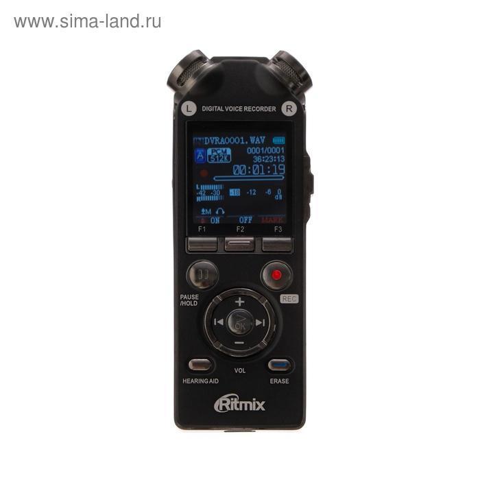 Диктофон Ritmix RR-989, 8 Гб, microSD, MP3/WAV, дисплей с подсветкой, чёрный - фото 2
