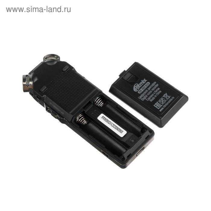 Диктофон Ritmix RR-989, 8 Гб, microSD, MP3/WAV, дисплей с подсветкой, чёрный - фото 3