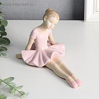 "Сувенир керамика ""Маленькая балерина в розовой пачке - тянет носочки"" 11,5х16,3х10,7 см"
