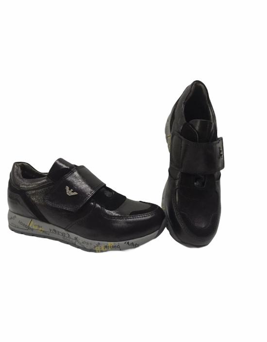 Туфли кожаные унисекс 32/33/35 - фото 1
