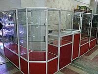 Бутики торговые из алюминиевого профиля и стекла