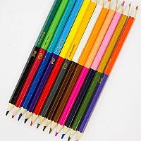 Карандаши цветные двусторонние MARTEK, деревянные, заточенные 24 цвета