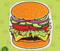 Полотенце пляжное «Гамбургер», 134 × 150 см, 100 % п/э