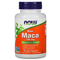 Мака, необработанная, 750 мг, 90 капсул, Now Foods
