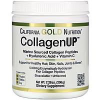 CollagenUP, морской гидролизир. коллаген с гиалуроновой кислотой и вит. С, California Gold Nutrition. 206 г