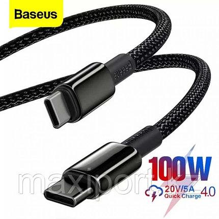 Type c 100watt кабель 1м Baseus в оплетке, фото 2