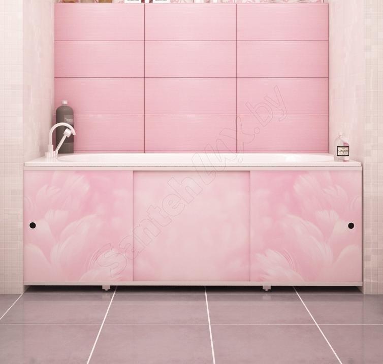 Экран для ванны МЕТАКАМ Премиум-А 1,7 м Розовый