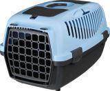 Trixie до 8кг Серый с голубым цвет 37 х 34 х 55 см переноска для небольших пород собак или кошек.
