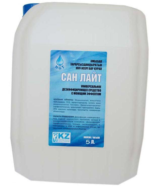 Универсальное  дезинфицирующее средство с моющим эффектом на основе перекиси водорода и час 5л.