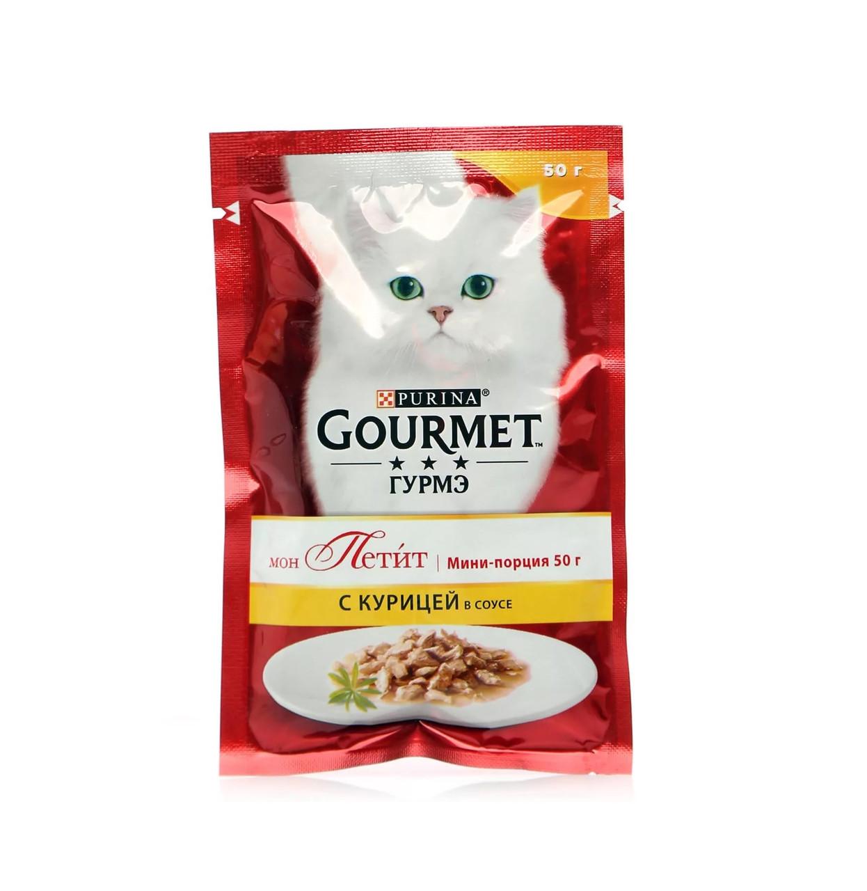 Gourmet Mon Petit с курицей в соусе, пауч 50гр.