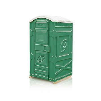Туалетная кабина, 1.15 × 1.15 × 2.3 м, универсальная, цвет зелёный, «Эколайт Стандарт»