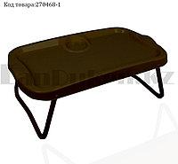 Столик-поднос раскладной 570*340*160 мм 10000 коричневое (003)
