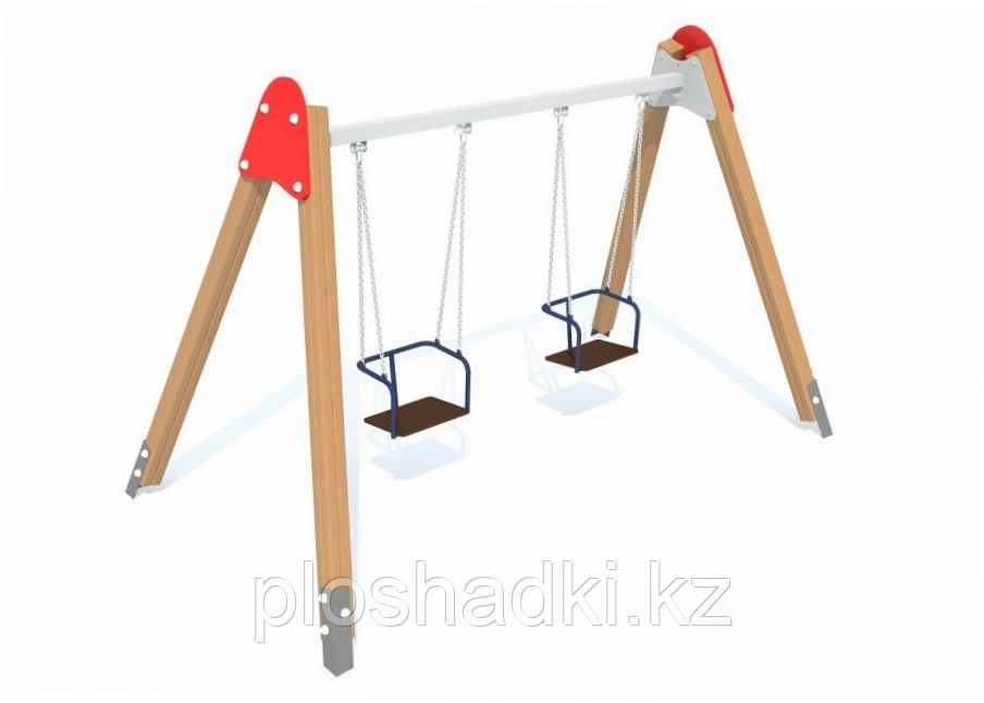Качели подвесные двойные, сиденья со спинкой