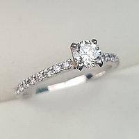 Золотое кольцо с бриллиантом 0,53Сt SI2/I VG-Cut, фото 1