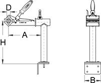 Тиски поворотные с пружиной с возможностью крепления на верстаке или стене - 1693.2 UNIOR, фото 2
