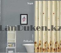 Водонепроницаемая шторка для ванной тканевая полиэстер Tropik 180x200 см с геометрическим рисунком