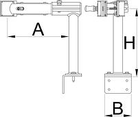 Тиски поворотные Г-образные с пружиной с возможностью крепления на верстаке или стене - 1693.2Q UNIOR, фото 2