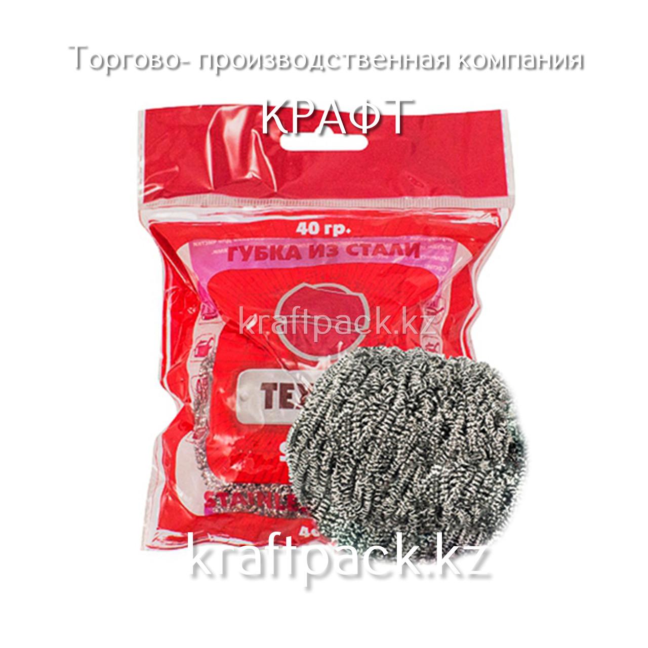 """Губка металлическая TEXTOP MAX """"40гр"""" (1 шт/упак)"""