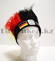 Карнавальная шапка для болельщиков парик тканевый с немецким флагом O'reilly's irish pub триколор