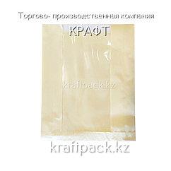 Пакет с плоским дном беж.с окном  295*230*55*120 (100шт/1500кор)