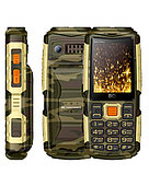 Мобильный телефон BQ-2430 Tank Power Камуфляж+Золото