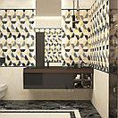 Кафель | Плитка настенная 25х75 Асуан | Asuan 5Д черный с рисунком, фото 2